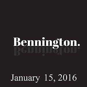 Bennington, January 15, 2016 Radio/TV Program