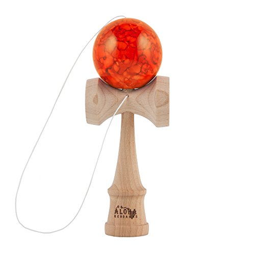 Aloha Kendamas Standard Kendama Marbleized Orange - 1