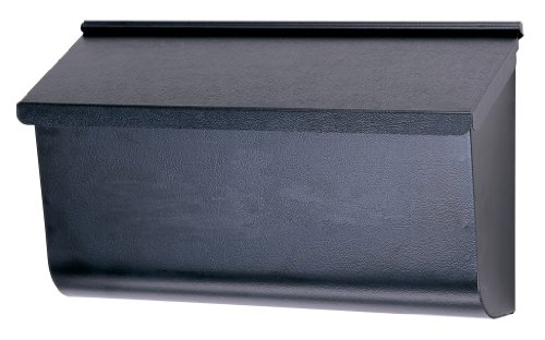 Solar Group L4010WB0 Extra Large Horizontal Wall Mount Mailbox, Black