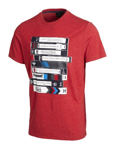 Hummel, T-shirt Uomo Cesc a maniche corte Tee, Rosso (ribbon red), L