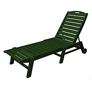 Nautical wheel chaise lounge finish green for Chaise game free download