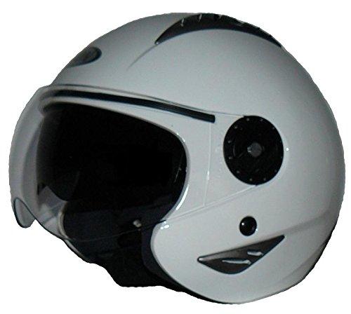 Protectwear h720 90 w-sO-s casque de moto avec pare-soleil intégré, bandes