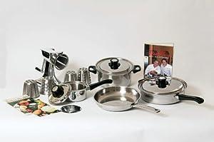 Health craft 7 piece waterless cookware set for Kitchen craft waterless cookware