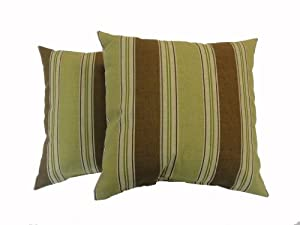 Amazon.com - Newport Layton Home Fashions 2-Pack KE20 Indoor/Outdoor Pillows, Landry Stripe ...