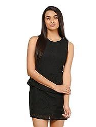 Mayra Women's Net Dress (1604D19311_S Black )