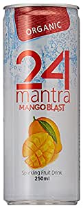 24 Mantra Organic Mango Blast, 250ml (Pack of 6)