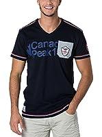 CANADIAN PEAK Camiseta Manga Corta Jurassic (Azul Marino)