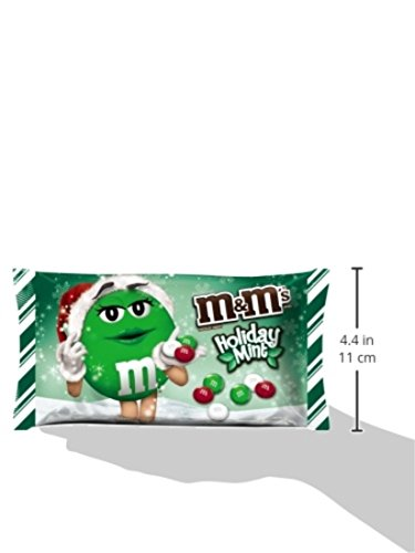 M M 39 S Mint Chocolate Candy For The Holidays 9 9 Ounce Bag