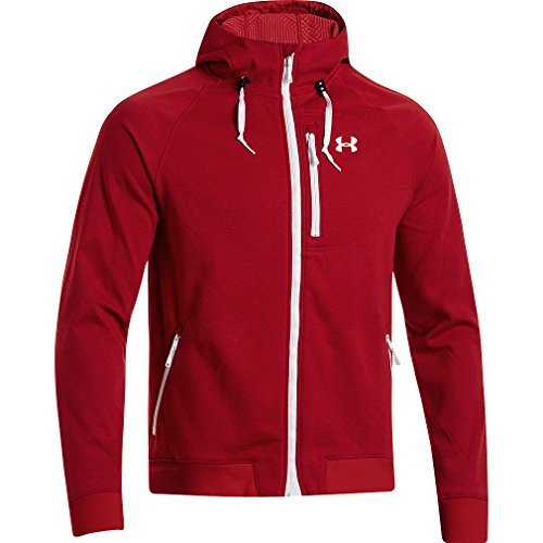 Under Armour UA ColdGear Infrared Dobson Cotton SoftShell Hooded Jacket - Men's Risk Red / White Small
