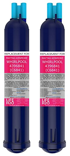 2 Pack Refrigerator Water Filter 4396841 4396710 Filter3 Replacement by LifeH2O | Advanced Filtration Technology | Easy Installation | Compatible with Maytag Whirlpool Kenmore and PUR Fridge Models (Whirlpool Advanced Water Filter compare prices)