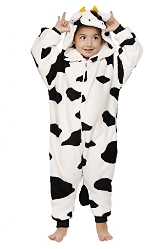 Anim-Unisex Kigurumi Pajamas Kids Costume Animal Pyjamas-cow