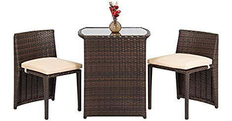 Vintage Best Choice Products Outdoor Patio Furniture Wicker Piece Bistro Set Brown from eBay for