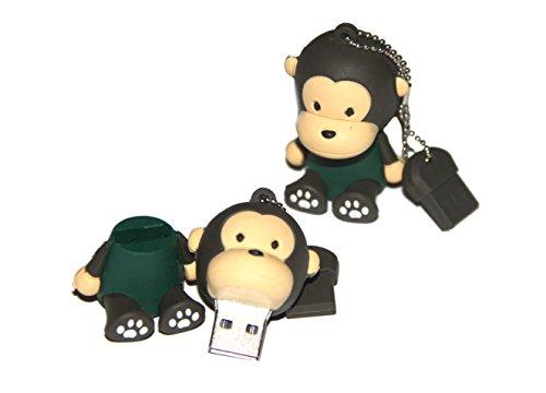 Tomax scimmia con la camicia verde come un flash drive USB con 64GB di memoria USB Flash Drive