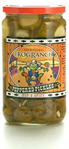 Frog Ranch Hot Spicy Peppered Pickles