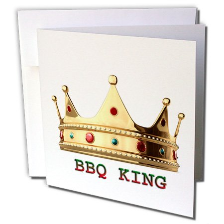 Gc_54981_2 Funny Quotes And Sayings - BBQ King - Greeting Cards-12 Greeting Cards With Envelopes
