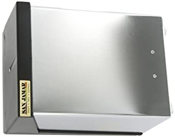 "San Jamar H3001 Countertop Fullfold Napkin Dispenser, 300 Capacity, 7-5/8"" Width x 5-1/2"" Height x 11"" Depth, Clear/Chrome"