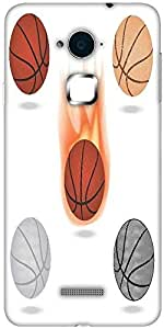 Snoogg basketball Solid Snap On - Back Cover all Around protection For Coolpad Note 3 (White, 16GB)