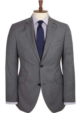 Austin Reed Contemporary Fit Grey Soft Wool Jacket REGULAR MENS 44