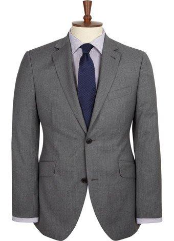 Austin Reed Contemporary Fit Grey Soft Wool Jacket REGULAR MENS 44