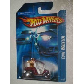 #2006-158 Fore Wheeler Red & White Collectible Collector Car Mattel Hot Wheels - 1