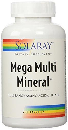 Solaray - Mega Multi Mineral - 200 Capsules - MMM-200