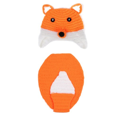 EOZY Baby Crochet Costume Photography Photo Prop 0-18 Months Cartoon Fox