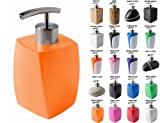 Soap Dispenser Wide choice of beautiful soap dispenser Stainless Steel Pump Easy to clean (Wave Orange)