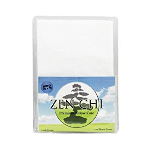 "Zen Chi Buckwheat Pillow Case - Zen Chi 100% 400 Thread Count Premium Pillow Case - Fits All King Sized Pillows (20"" X 36"") at Sears.com"