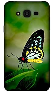 The Racoon Lean printed designer hard back mobile phone case cover for Samsung Galaxy J7. (butterfly)