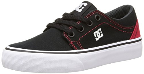 DC ShoesTrase Tx B - Sneaker Bambino, Nero (Black/Red), 39