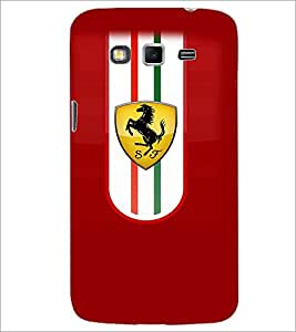 PrintDhaba Ferrari Logo D-3839 Back Case Cover for SAMSUNG GALAXY GRAND 2 (Multi-Coloured)