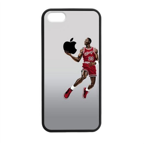 Funny Creative NBA Chicago Bull MICHAEL JORDAN Phone Case Cover for iPhone 5 5s Best Silicone Cover for APPLE Picture