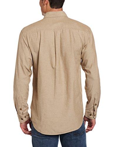 Carhartt men 39 s fort long sleeve shirt lightweight chambray for Carhartt men s long sleeve lightweight cotton shirt