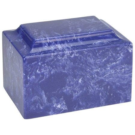 Silverlight Urns Cobalt Classic Cultured Marble Funeral Cremation Urn for Human Ashes (Dark Blue) - Adult / Large Size. Suitable for Ground Burial or Memorial at Home (Urns Marble compare prices)