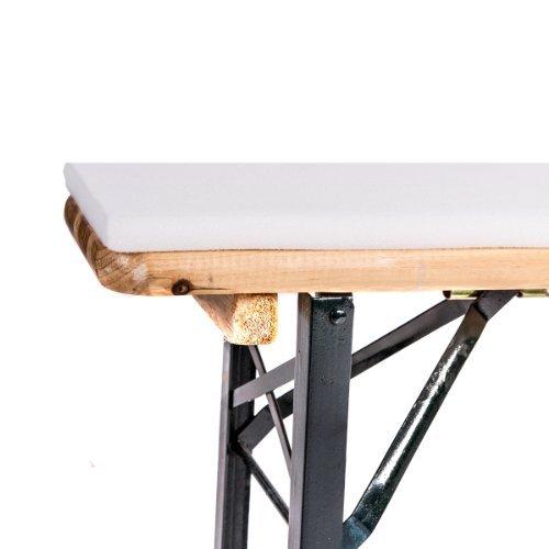 Beautissu set di 3 fodere per tavolo lungo e stretto e panche larghezza 70 cm color ecru - Tavolo lungo e stretto ...