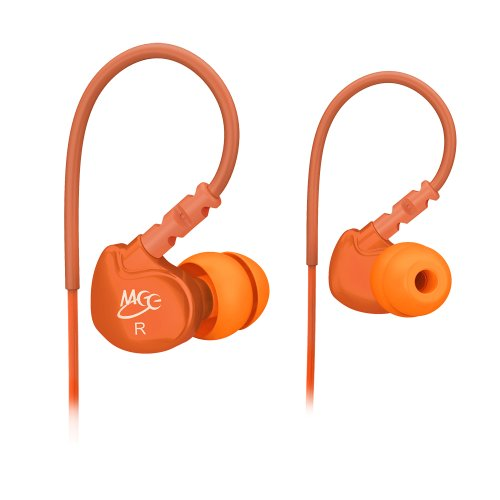 Meelectronics Sport-Fi M6 Noise-Isolating In-Ear Headphones With Memory Wire (Orange)
