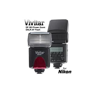 Vivitar Df383 Digital Ttl Shoe Mount Power Zoom /swivel /bounce Auto-focus Flash For Nikon Ttl Guide Number 45m 147&#39;
