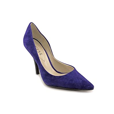 Guess Carrie Womens Size 6.5 Blue Suede Pumps Heels Shoes