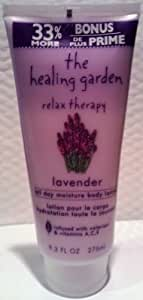 The Healing Garden Relax Therapy Lavender All Day Moisture Body Lotion - 9.3 fl oz (275 mL).
