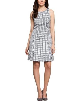 Comma Damen Kleid (mini) Regular Fit, geblümt 89.402.82.4537 KLEID KURZ, Gr. 40, Mehrfarbig (58B6 blue AOP)