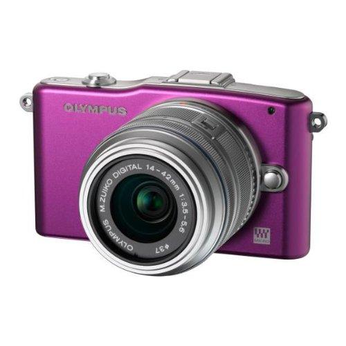 olympus-pen-e-pm1-systemkamera-12-megapixel-76-cm-3-zoll-display-bildstabilisiert-lila-mit-14-42mm-o