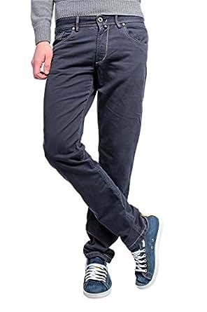 Aeronautica Militare Slim Leg Jeans, Color: Dark blue, Size: 33 at