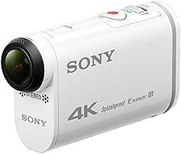 Sony FDR-X1000 4K Actioncam (4K Modus 100/60Mbps, Full HD Modus 50Mbps, ZEISS Tessar Objektiv mit 170 Ultra-Weitwinkel, Vollständige Sensorauslesungohne Pixel Binning, Exmor R, Zeitlupenaufnahmen, Stereo Mikrofon) weiß
