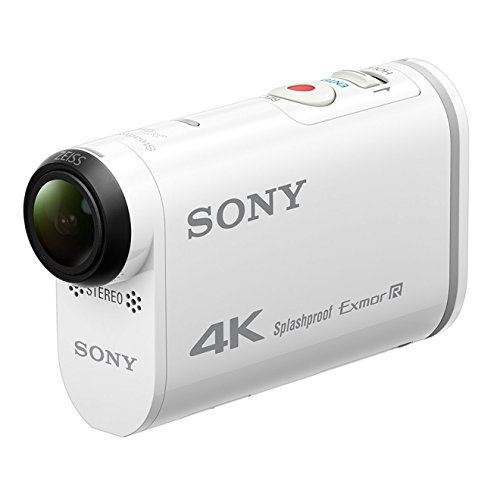 Sony FDRX1000V.CEN Caméra d'action sportive GPS intégré 4K Full HD Wifi/NFC Blanc