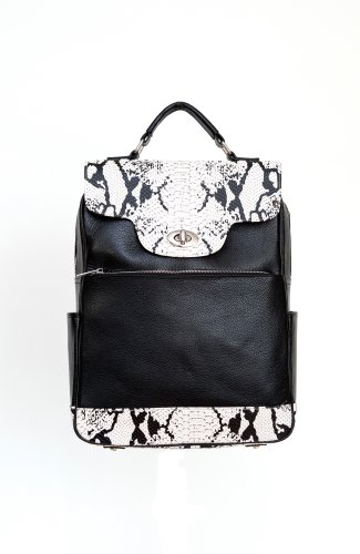 Samantha Mary Leather Laptop Backpack