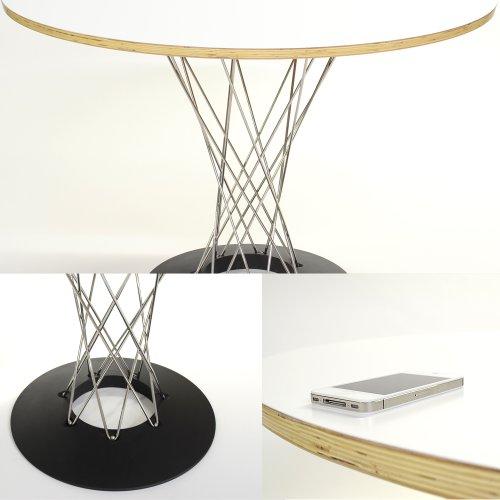 【プレミアム】サイクロンテーブル (Cyclon Table)ステンレス脚 ホワイト イサム・ノグチ