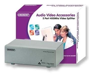 EMINENT EMINENT 2 port video splitter Platinum KVM switchesKVM switches (AB7802)