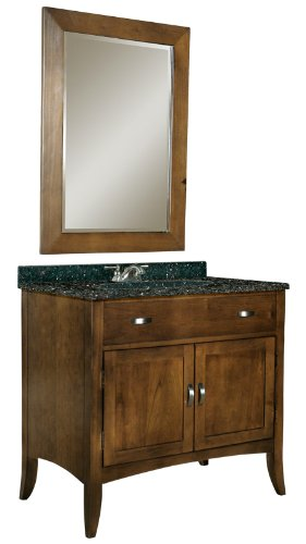 Kaco international 385-3000-AB Metro 30-Inch Vanity with a Brown Cherry Sherwin Williams Finish and Black Granite Top