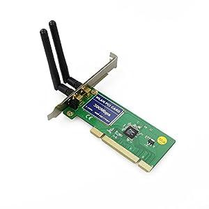 300Mbps Lan 802.11 n/g/b Wireless Wifi Network PCI Card