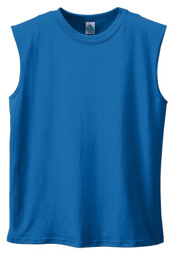 Augusta Sportswear Youth Sleeveless Shooter Shirt, Royal, Large front-592073